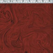 Burgundy MARBLE Fabric ~ FQ