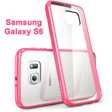 i-Blason For Samsung Galaxy S6 Halo Scratch Resistant Hybrid Clear Case Pink