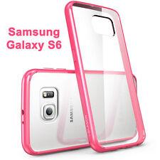 i-Blason Samsung Galaxy S6 Halo Scratch Resistant Hybrid Clear Case Pink Bumper