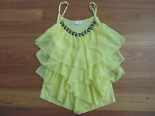 LOVELY CUTE YELLOW LAYERED SLEEVELESS POLYCOTTON TOP BY LILY WHYT - SIZE 6/8