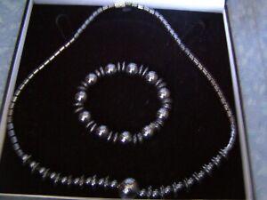 Beautiful Beaded Hematite Gemstone Bracelet And Necklace Gift Healing Properties