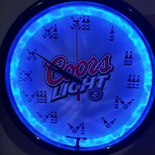 Rare Vintage Coors Light Beer Neon lighted wall clock with bottles for numbers