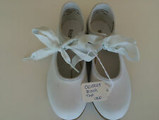 Dance Tap Shoes by Bloch Girls Size 2W White with ties