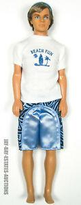 RARE VINTAGE 2005 BARBIE KEN DOLL BEACH FUN WITH CLOTHING & SHADES #J6897 MATTEL