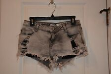 Zara Distressed Gray Shorts Size 6 38