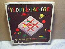1955 Tiddle Tac Toe Game Complete,schaper plastic game,pieces still sealed,tic