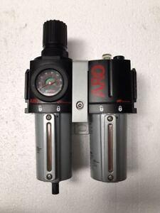 Ingersoll Rand ARO C38351-610 Filter Regulator Lubricator FRL Set *Free Shipping