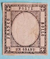 ITALIA - 1861 - KING VICTOR MANUEL II ( 1 Und ) IMPERFORATED - NEGRO/BLACK 1Gr