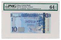 LIBYA banknote 10 Dinars 2003 PMG MS 64 EPQ Choice Uncirculated