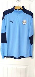 Puma Men's Manchester City FC Men's 1/4 Zip Peacoat Jacket Large NWT