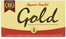 3X Mysore Sandal And Almond Oil Gold Soap With Moisturizers and conditioner-125G
