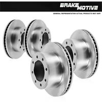 Front+Rear Brake Rotors For 1999 2000 2001 2002 2003 2004 Ford F350 4WD 4X4 DRW