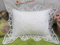 Victorian White Battenburg Lace Pillow Sham Cushion Case~Cotton~Wedding~RARE~