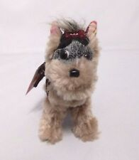 "FUZZY NATION Yorkie Plush Stuffed Animal Toy Dog Purse - Missing Handle 6"" tall"