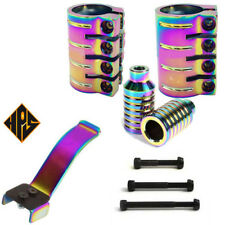 STUNT SCOOTER OIL SLICK NEO CHROME HIC ICS QUAD CLAMP & PEGS BRAKE 100mm 110m 9