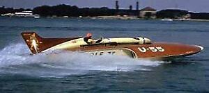 "36"" GALE V -Hydroplane 1:12 Scale Fiberglass RC Boat Hull Kit USA MADE!"