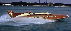 "36"" GALE V -Hydroplane 1:12 Scale Fiberglass RC Boat Hull Kit USA MADE!"