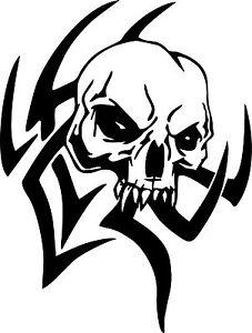 Tribal Skull Design Car Truck Window Laptop Vinyl Decal Sticker