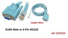 1.5 M RJ45 macho a 9 Pines RS232 RS-232 DB9 Enchufe Hembra Conector Del Cable LAN Router
