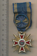 OLD Royal Romania Order Romanian Crown SILVER MEDAL WWI OFFICER 1881 1918 French