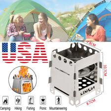 Lixada Outdoor Camping Picnic Alcohol Wood Stove with Storage Bag Portable US