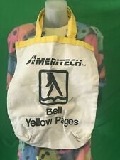VTG AMERITECH BELL YELLOW PAGES CANVAS TOTE BAG