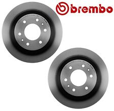 Pair Set of 2 Rear Coated Disc Brake Rotors 325 Brembo For Buick Chevy GMC Saab