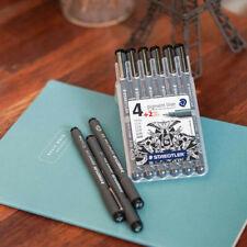 Staedtler Pigment Liner 308SB6P Set 4 Plus 2 Pen Ink 6PCS Made In Germany_MC
