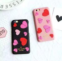 Kate Spade PU Leather iPhone 7 7Plus iPhone 6 6s 6Plus 6s Plus Case/Black Pink