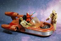 VINTAGE STAR WARS COMPLETE LANDSPEEDER + 3 ACTION FIGURES KENNER land speeder