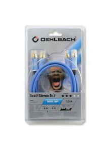 Cavo Cinch Audio Digitale Oehlbach NF 113 DI 150 blu 75 Ohm Cavo coassiale S//PDIF di alta qualit/à 1,50 m schermatura multipla