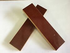 "MICARTA: Dark Brown Canvas 3/8""  6"" x 1.5"" Scales for Wood Working, Knife Making"