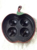 Vintage Cast Iron Apple Baker Apple Shaped Baking Pan Skillet Bakeware