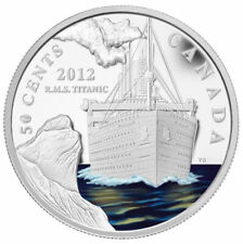 Canada 2012 50-cent Silver-Plated Coin R.M.S. Titanic RCM with Box and COA