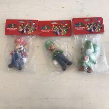 "Super Mario Figures Size 5"" Mario, Yoshi, and Luigi Lot of 3 SEALED BRAND NEW"