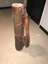 Preowned VINTAGE BELDING SPORTS GOLF BAG - Green, Canvas Leather