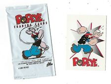 POPEYE trading card set of 100 cards and 1 wax wrapper.