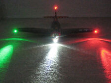 BEST RC WIDE LED NAVIGATION LIGHTS for ELECTRIC AIRPLANES Parkzone T-28 P-51