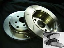 SLOTTED PAIR with PADS Commodore VE V8 & SS & WM V8 REAR Disc Brake Rotors NEW