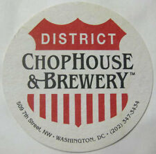 DISTRICT CHOPHOUSE & BREWERY Beer COASTER, Mat, WASHINGTON, D.C. Issued 2003 NEW