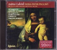 GABRIELI Missa Pater Peccavi HIS MAJESTYS SAGBUTTS CD Timothy Roberts HYPERION