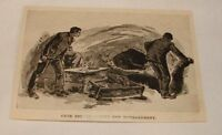 1894 magazine engraving ~ REFUGE IN CAVES, Petersburg, Va