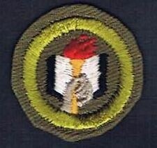 Scholarship 1947-1960 Khaki Cotton Wht Bk St Crimped Merit Badge 201177
