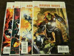 2009 MARVEL Comics ULTIMATE Armor Wars #1-4 Complete Series Set IRON MAN - VF/NM