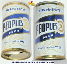 1970 Peoples Drug Store Target Tin Beer Can Oshkosh,Wi. Wisconsin Hits The Spot