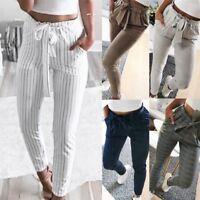 1X Women's Skinny Long Trousers OL casual Bow-knot harem fashion slim Crop Pants