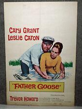 FATHER GOOSE original 1965 movie poster CARY GRANT/LESLIE CARON