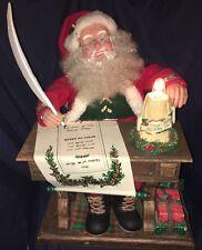 1994 Holiday Creations Animated Santa Christmas Display Presents Works Great!