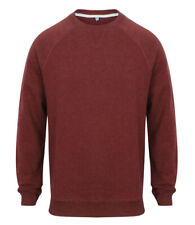 New Mens Front Row FR834 French Terry Sweatshirt. Burgundy Marl L.