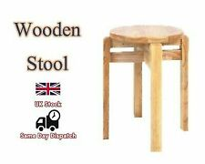 WOODEN STOOL Home office Kitchen Chair Seating Kids/Adults Room Furniture UK